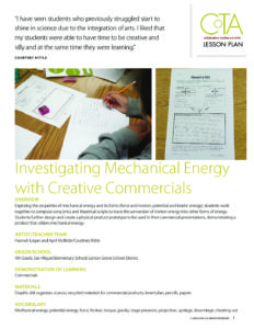 Investigating Mechanical Energy with Creative Commercials